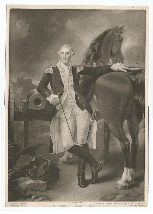 general Washington next to his horse in Clifton New Jersey